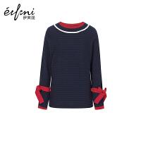 2件2.7折价:189 【商场同款】伊芙丽冬装新款韩版羊毛毛衣打底衫宽松针织衫女