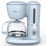小熊(Bear)咖啡机 0.6L全自动小型美式滴漏壶滴滤机家用泡茶煮咖啡壶 蓝色 KFJ-A06K1