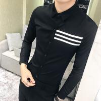 新品2018春季新款男士长袖衬衫韩版简约打底衬衣S码160矮个子修