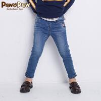 【2件3折 到手价:149】Pawinpaw卡通小熊童装秋男童牛仔长裤中小童修身牛仔裤