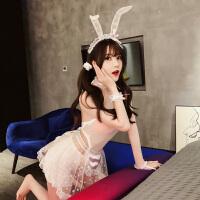 情趣内衣性感兔女郎透明制服骚三点式激情套装超骚床上调情超骚