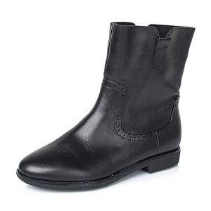 Teenmix/天美意专柜同款黑色牛皮女靴(绒里)6D462DZ5