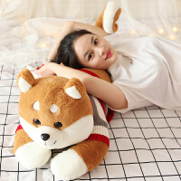 可爱柴犬毛绒玩具狗布娃娃大玩偶睡觉抱枕女孩萌哈士奇公仔