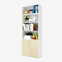 [当当自营]慧乐家 书柜书架 鲁比克六层带门柜 白色+白枫木色 11309-1