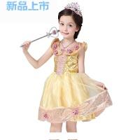夏新女童belle贝儿公主裙生日礼物节日表演礼服连衣裙