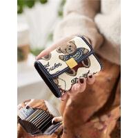 卡包女式可爱银行卡套风琴页女士小巧证件零钱包