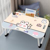 床上小桌子可折叠宿舍神器学生卧室坐地少女电脑懒人学习书桌可爱