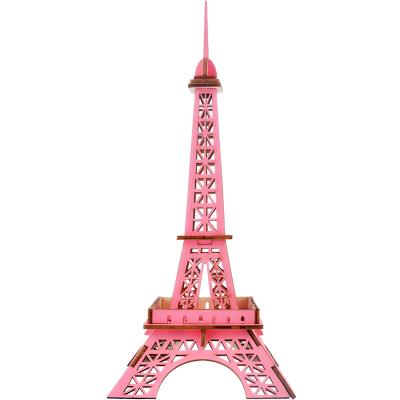 埃菲尔铁塔仿真模型立体儿童积木制拼装玩具