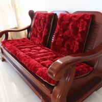 加厚毛绒单人沙发垫子三人实木沙发座垫红木长椅垫坐垫可拆洗