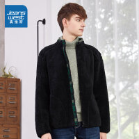 [618提前购专享价:49.9元]真维斯男装 冬装 经典易搭摇粒绒款修身夹克外套