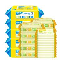 [当当自营]可爱多木糖醇婴儿口手湿巾80片*5包+25抽*10包+10片*10包