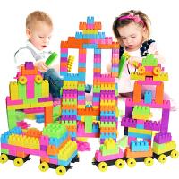儿童大颗粒塑料拼搭拼装拼插积木1-2男孩女孩宝宝玩具3-6周岁