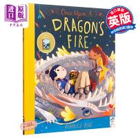 【中商原版】Beatrice Blue Once Upon a Dragon's Fire 从前有条喷火龙 精品绘本 获