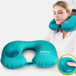 物有物语 U型枕 便携式按压充气枕成人旅行常备轻薄舒适护颈枕