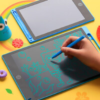 儿童手写板画板液晶电子小黑板幼儿家用小画板大尺寸彩色写字板手LCD局部免擦涂鸦可擦夜晶画画板小孩磁性笔