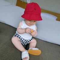 女宝宝背心夏季薄款螺纹婴儿婴童无袖上衣吊带衫