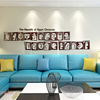 创意面孔墙亚克力墙贴餐厅墙面装饰品3d立体贴画客厅房间墙壁贴纸 特