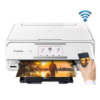 佳能TS8080彩色喷墨照片打印机手机一体机家用办公wifi三合一6色ID卡复印手机照片打印多功能连供打印白色