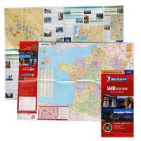 2019年新 法国地图 中英文对照 旅游指南米其林系列 覆膜防水 耐折 图文并茂 城市出行、旅游景点图文介绍 法国全图