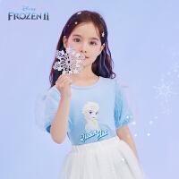 【4折券后价:37.4元】迪士尼童装女童短袖t恤儿童上衣2021夏季新款宝宝洋气时髦