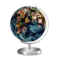 【满100减40】 乌龟先森 地球仪 星座带灯世界立体地图倾角双轴万向旋转学生用20cm地理星球卫星学习教学儿童书房l