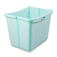 可坐宝宝洗澡桶泡澡桶 婴儿浴盆可折叠儿童洗澡盆沐浴桶