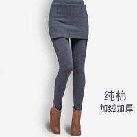 假两件打底裤冬天加绒加厚新款胖mm200斤女士包臀弹力显瘦长裤裙