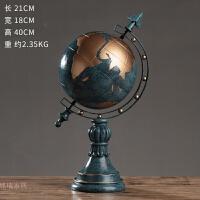 欧式地球仪摆件经纬仪创意家居客厅装饰品工艺品办公桌面礼物摆设