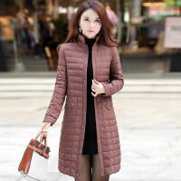 轻薄羽绒服女韩版秋冬显瘦中长款女款时尚冬装外套