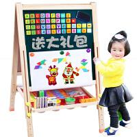 儿童画板画架家用实木磁性升降支架式小黑板画画套装写字板涂鸦板