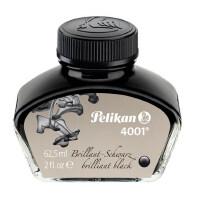 62.5ml德国pelikan百利金4001钢笔墨水彩墨非碳素不堵笔大瓶钢笔蓝纯黑色彩色钢笔水高阶黑是30ml送笔套本