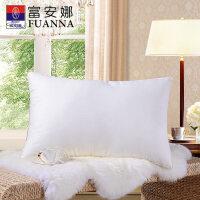富安娜家纺 舒适立体纤维软枕纯棉提花面料软枕芯70*45cm一个