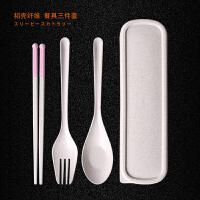 日式便携餐具三件套 韩版学生创意叉子勺子筷子套装