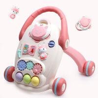 宝宝学步车带水箱手推车带音乐多功能婴儿助步车0-1岁玩具 红色