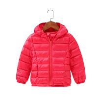 南极人儿童轻薄羽绒服中大童宝宝秋冬季带帽白鸭绒上衣男女宝宝外出服