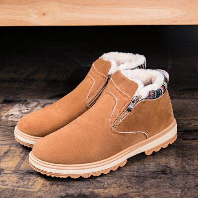 西瑞新款高帮马丁靴男侧拉链男靴子加绒保暖雪地靴棉靴ZCN55