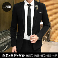 西服套装男士三件套商务正装职业小西装韩版修身伴郎新郎结婚礼服
