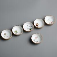 手绘茶杯 陶瓷粗陶品茗杯闻香杯普洱杯 创意功夫茶具杯