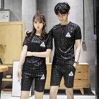 2018套装男夏季情侣装新款潮流夏装T恤短袖韩版气质运动套装