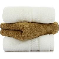三利 长绒棉缎档毛巾3条装 高毛圈加厚款 120克/条 独立包装 34x76cm 米色2条+咖色1条