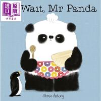 【中商原版】礼貌的熊猫先生:请稍等 I ll Wait, Mr Panda 低幼启蒙 性格习惯养成 亲子绘本 4~6岁