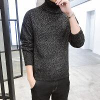 高领毛衣男韩版针织衫打底黑色修身潮流帅气男士秋冬季粗毛线衣