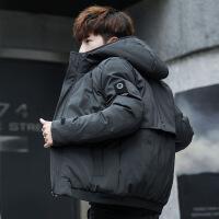 2018新款男士冬季棉衣外套韩版潮流冬天加厚棉袄连帽衣服男装