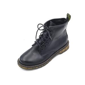 靴子女短靴女马丁靴女英伦风学生韩版百搭2018秋季新款复古短靴机车单靴平底326MM