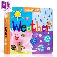 【中商原版】Hello, World! Weather 你好地球天气 低幼亲子认知启蒙绘本图画书 天气科普 纸板书 英文