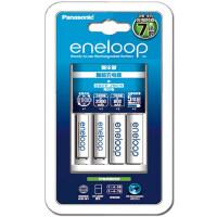 松下爱乐普eneloop三洋5号7号2节充电电池BQ-CC17智能充电器套装