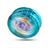 儿童玩具发光溜溜球七彩灯光悠悠球炫光yoyo学生孩子生日礼物 升级双面七彩灯-蓝