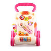 维莱 优乐恩2303 婴儿多功能学步车 可调速手推车8-12个月婴幼儿教具 玫瑰红