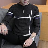 男士毛衣秋冬季潮流衣服外穿针织衫韩版长袖t恤男薄秋衣男装上衣