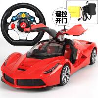 超大可充电一键开门方向盘遥控汽车漂移耐摔男孩儿童玩具赛车模型